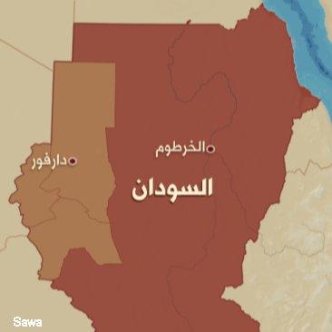 map darfur