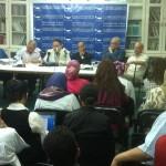 مركز القاهرة ينظم محاضرات حول حرية التنظيم بالفيوم