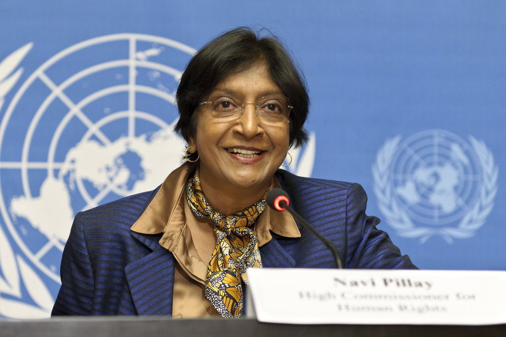 Navi Pillay, High Commissionner for Human Rights. UN Photo/Fabrice Arlot