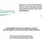 CITIZENSHIP IN POST-AWAKENING EGYPT POWER SHIFTS AND CONFLICTING PERCEPTIONS