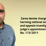 Egypt | Zaree denies charges of harming national security and appeals the investigative judge's appointment in case no. 173/2011